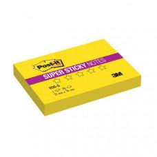 656-S Стикеры Post-it® суперклейкие, цвет неоновый желтый, 51х76мм, 90 листов