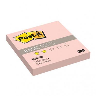 654R-BP Стикеры Post-it® BASIC, розовые, 76х76 мм, 100 л.