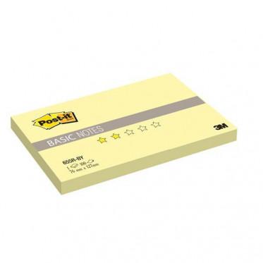 655R-BY Стикеры Post-it® BASIC, канареечный желтый, 76х127 мм, 100 л.