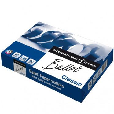 Бумага BALLET CLASSIC, ф. А3, яркость 96%, белизна 153% CIE, 80 г/м2, 500 л.