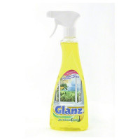 Средство чистящее GLANZ, для стекол, с распылителем, ЦИТРУС, 0750 мл
