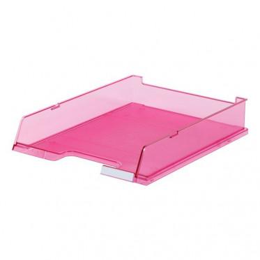 HAN лоток для бумаг с окном прозрачно-малиновый