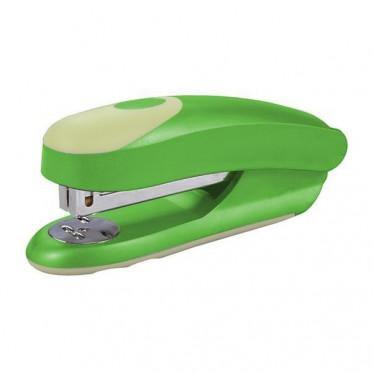 Cтеплер FUSION, скоба № 24/6, на 20 листов, пластиковый корпус, зеленый/желтый