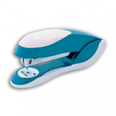 Cтеплер FUSION, скоба № 24/6, на 20 листов, металлический корпус, серо-голубой/белый