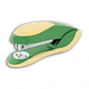 Cтеплер FUSION, скоба № 24/6, на 20 листов, металлический корпус, зеленый / желтый