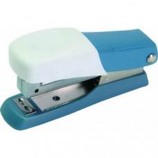 Cтеплер FUSION, скоба № 10, на 10листов, пластиковый корпус, серо-голубой/белый