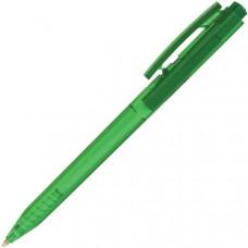 Авторучка шариковая, зеленый прозрачный корпус, синие Чернила на масляной основе, 0,7 мм