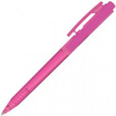 Авторучка шариковая, розовый прозрачный корпус, синие Чернила на масляной основе, 0,7 мм