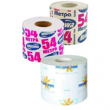 Бумага туалетная NEWA, 54 м, 1-сл.