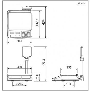 Торговые весы CAS PR LCD